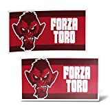 erreinge Sticker x2 Torino Ultras Supporters Bandiera Adesivo Sagomato in PVC per Decalcomania Parete Murale Auto Moto Casco Camper Laptop - cm 35