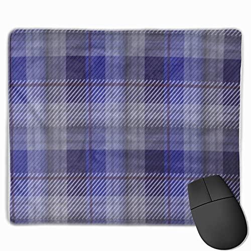 Gaming-Mauspad, Premium-strukturierte Mauspad-Pads, niedliches Mousepad für Spieler, Büro- und Heim-Amerikaner Blue Tartan Plaid in Musterfeldern Datei British Camping