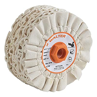 Walter 07T425 Linear Finishing Buffing Abrasive Drum - Multi Ply Cotton Grit Polishing Drum. Surface Polishing Accessories