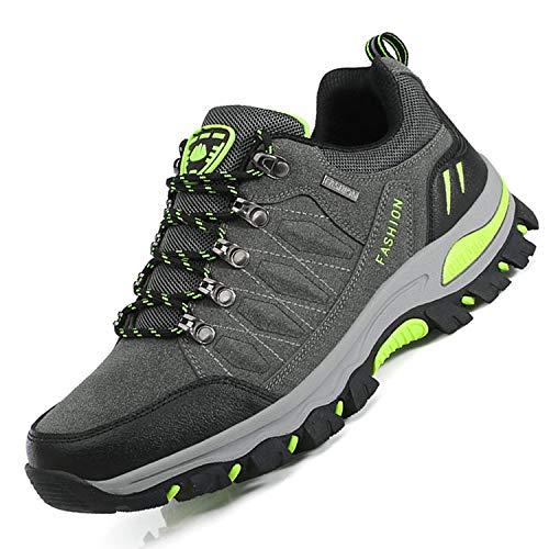 Unitysow Scarpe da Trekking Uomo Donna Arrampicata Sportive All'aperto Scarpe da Escursionismo Sneakers Unisex Impermeabili Traspiranti Passeggiate Stivali 35-47,Scuro Grigio-1,EU43