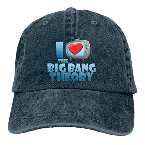 Preisvergleich Produktbild Men Vintage Adjustable Casquette Customized I Heart Big Bang Theory Fashion Strapback Cap,  Navy