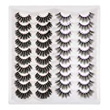 20 Pairs 2 Styles Mixed Eyelashes, FANXITON False Lashes Fluffy Natural Volume 3D Faux Mink Lashes Pack