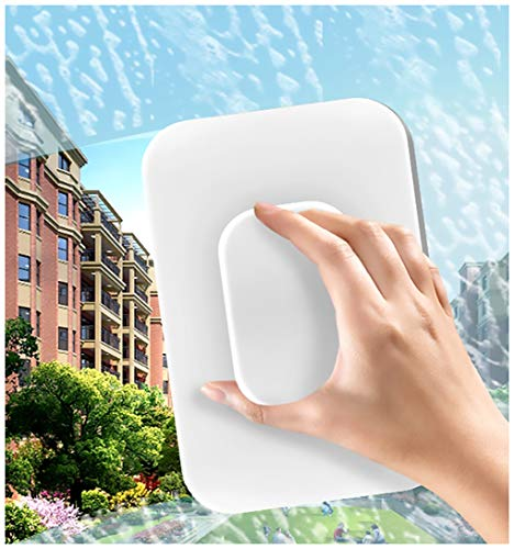 New Updated Magnetic Window CleanerDouble Sided,OutsideWindow Cleaner Tool (Glass Thickness 0.7-1.3In)