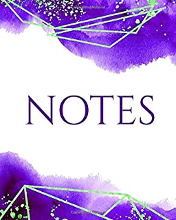 NOTES: Amethyst Watercolor Luxe Notebook - Journal - Diary (Lined)
