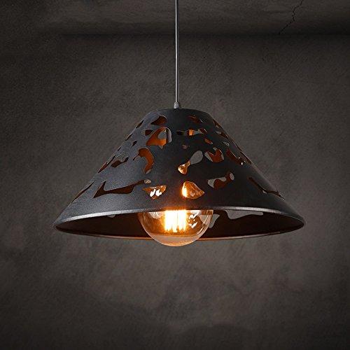 Pumpink Retro Edison durchbrochene hohlen Topf-Abdeckung justierbare hängende Lichter Chandelier Mittelmeer schmiedeeiserne Kugel-Kerzenhalter-hängende helle Weinlese-Zeit und Raum Loft Einzelne Kopf-