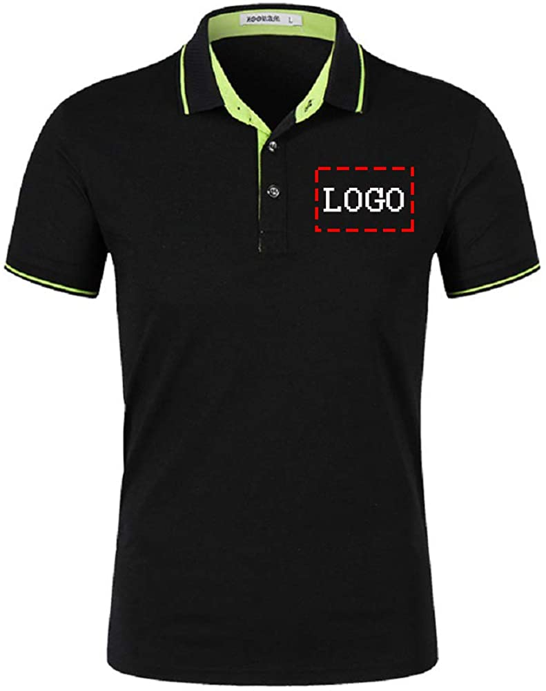Personalized Men Polo Shirts Customized S Ranking TOP20 Fit Slim Collar Max 90% OFF Casual