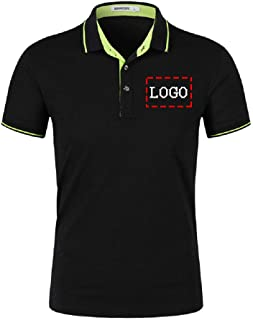Personalized Custom Text Logo Jersey Men's Polo Shirts Mens Dress Shirt