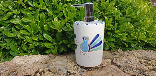 Pavoncella sarda, dispenser sapone liquido turchese