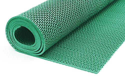 ONPIRA Bodenmatte in 3 Farben Saunaläufer Duschmatte Antirutschmatte Meterware 90 und 120 cm (120cm Grün)