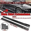 2.2m Carbon Fiber Loook/Black Car Seitenschweller Extensions Splitters Rocker for BMW F30 F80 F82 M3 M4 F32 F36 E90 E92 E93 F10 F11 (Color : Black)