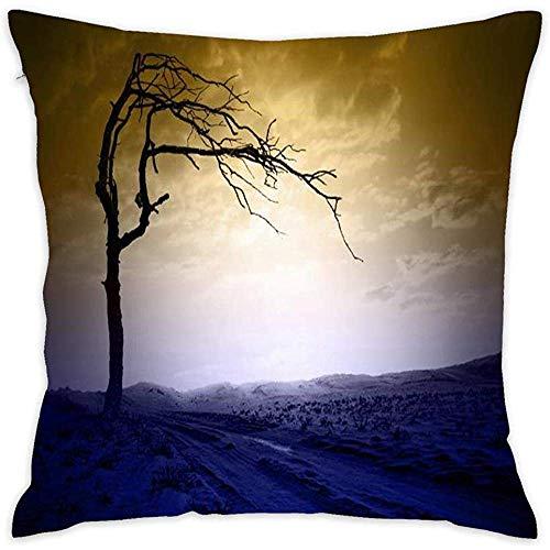 Not applicable Alone in Storm Cotton Linen Home Funda de Almohada Decorativa Throw Pillow para sofá sofá 18 x 18 Pulgadas