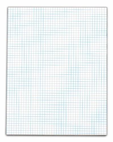 TOPS Quadrille Pad, Gum-Top, 8-1/2 x 11 Inches, Quad Rule (5 x 5), White Paper, 50 Sheets per Pad, 12 Pads per Pack (3315)