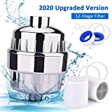 Shower Filter, 12-Stage Shower Head Filter, Water Softener, Hard Water Filter, Chlorine Shower