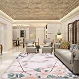 Alfombra antideslizante moderna con textura de mármol rosa para...