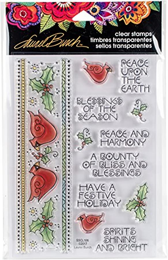 STAMPENDOUS SSCL106 Clear Stamp Set Cardinal Border
