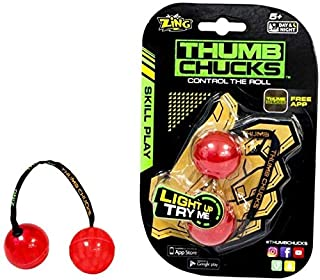 Zing Thumb Chucks - Blue - Handheld Skill Toy - Great for Boys and Girls - Use at Home or On The Go
