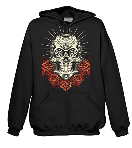 Rock Style Roses Day of The Dead 702073 Hood 001 2XL