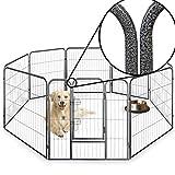 Parque de valla octogonal para cachorros, resistente, plegable, 60cm, 80cm y 100cm de...