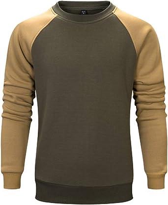 LBL Men's Casual Long-Sleeved Crew Neck Sweatshirt