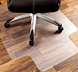 Alfombrilla para silla con borde para suelos duros,antideslizante de PVC para suelo de moqueta,protector ecológico para suelo de madera,almohadilla transparente para silla