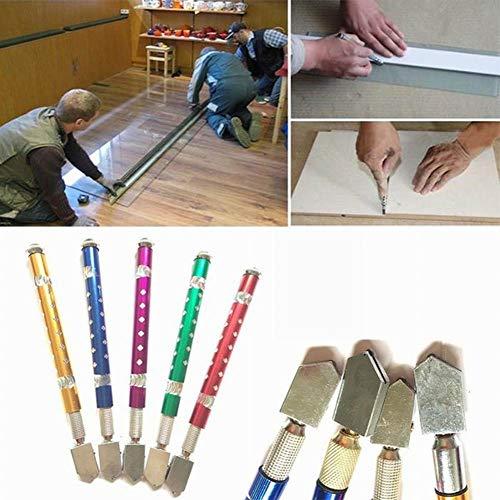 Mayyou Cortador de Vidrio Azulejo de mármol de cerámica Cuchillo de Corte Manual brújula Cuchillo de Vidrio abridor