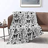 Ucaptain 1D Tattoos 2015 Multifunctional Blankets Air Conditioning Blanket Flannel Plush Throw Decorative Soft Cover All Season Lightweight Bed Blanket