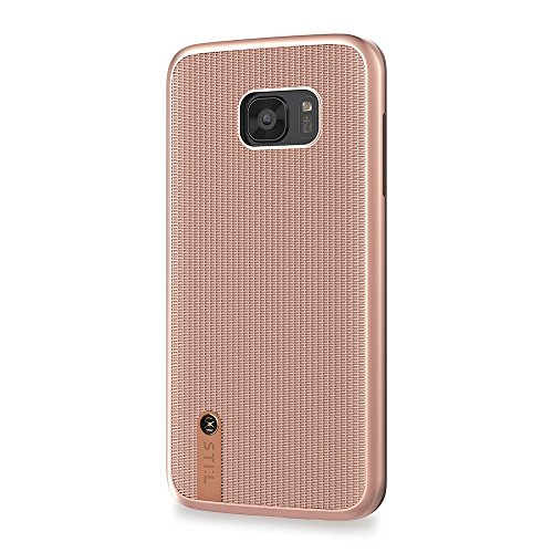 STI: L ketting sluier beschermhoes case voor Samsung Galaxy S7 Edge – goud/brons