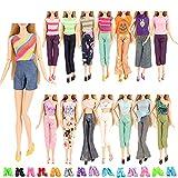 Miunana 5 Camiseta + 5 Pantalones + 10 Zapatos para 30 cm 11.5 Inch Doll Muñeca