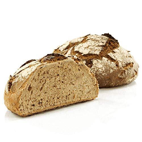 Vestakorn Handwerksbrot, Bergsteigerbrot 750g - frisches Brot – Natursauerteig, selbst aufbacken in 10 Minuten