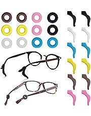 FineGood 12 par glasögonhållare, silikon halkfria glasögon tempellspets sportärmhållare för glasögon solglasögon läsglasögon