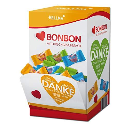 HELLMA 70000149 Herz-Bonbons, im Displaykarton