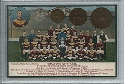 Bradford City AFC (The Bantams) Vintage FA Cup Final Winners Retro Antique Coin Present Display Gift Set 1911