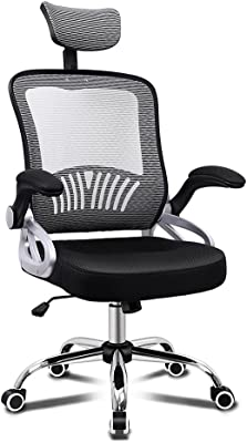 ALFORDSON Sean Mesh Office Chair Executive Fabric Seat Gaming Racing Tilt Computer with Adjustable Headrest and Armrest