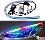 SPAIKO Flexible Car Led Light Strip Multi Colour Daytime Running Lights LED for Car Headlight...