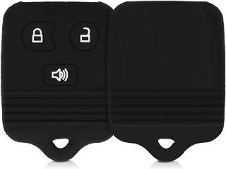 kwmobile Autoschlüssel Hülle kompatibel mit Ford 3 Tasten Funk Autoschlüssel   Silikon Schutzhülle Schlüsselhülle Cover in Schwarz