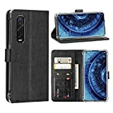 FUNMAX+ Oppo Find X2 Pro 5G Case, PU Wallet Flip Cover [3