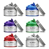 ALINICE Hair Wax Professional Hair Color Wax for Men and Women, Long-lasting Moisturizing Modelling Hair Styling Fluffy Matte Hair Paint Wax, 6Pcs