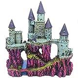 MJSHA Acuario Decoración Creativa de pecera, casa de Castillo de Estilo Europeo,decoración de Resina,diseño poroso,Conveniente para Que jueguen Peces y camarones (Purple)