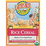 Earth's Best Organic Infant Cereal, Rice Cereal, 8 Oz Box (Pack of 12)