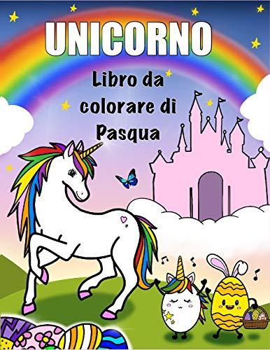 uova di pasqua unicorno unicorno : libro da colorare di pasqua: Fiori