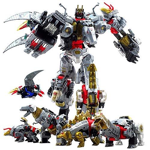 ZJXYYYzj Transformers, Transformation Action Figure Dinoking Volcanicus Grimlock Slag Schlamm Knäuel Swoop Slash Dinobot 5IN1 Roboter-Spielzeug (Color : BMB 5 in 1)