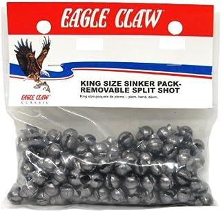 Eagle Claw Removable Split Shot King Pack, 90-Piece, Plain, Size-2