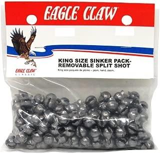 Eagle Claw Removable Split Shot King Pack, 216 Piece (Plain, Size-5)