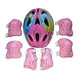 Mallalah - Juego de 7 protectores de protección para casco de bicicleta infantil para monopatín, patinaje, bicicleta
