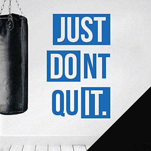 Wall Designer Wandtattoo mit Zitat Just Do It, Don't Quit Large (420 x 690mm) schwarz