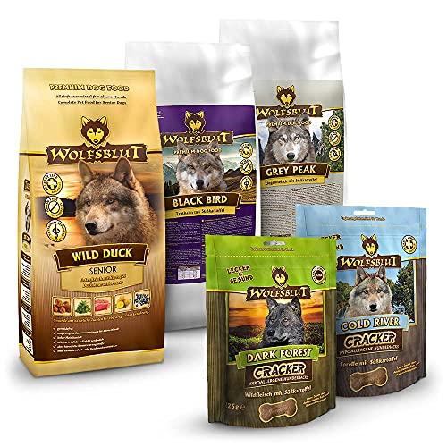 Wolfsblut | Senior Probierpaket 3 x 500 g + 2 x 225 g | Trockenfutter | Hundefutter | Getreidefrei