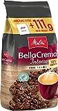 Melitta Ganze Kaffeebohnen, 100 % Arabica, Starkes Aroma, Intensiver Geschmack, kräftiger Röstgrad, Stärke 4, BellaCrema Intenso, 1111g