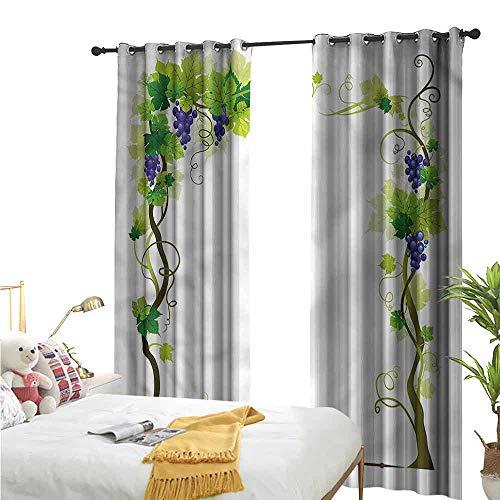 Flora Grant aangepaste gordijnen, wijnstok, tuinthema Fruit Botany,De gordijnen in de slaapkamer zijn verduisterd