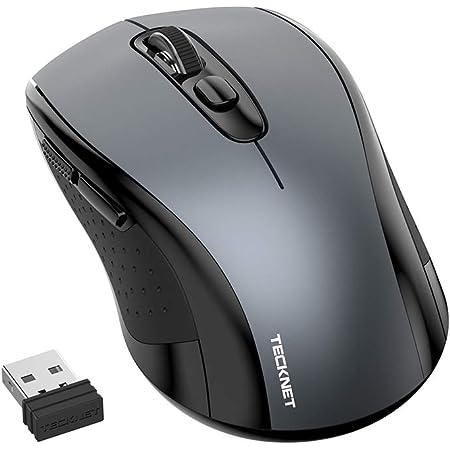 TECKNET Ratón Inalámbrico Silencioso Mouse Inalámbrico Portátil 2.4G, 6 Botones, 3 dpi Ajustable (1000/1500/2000) para Ordenador, PC, Chromebook