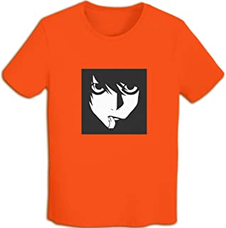 T Shirts For Men Death Note L·Lawliet Anime tee Womens T-Shirt Japanese Manga Short Sleeves Crew Neck Cotton Gothic Punk Classic Retro Funny Printed Vintage Black,